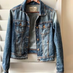 Zara TRF Premium Wash Blue Jean Jacket